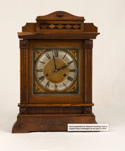 Clock presented by Quoting Club to Joseph Keay