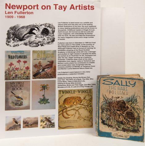 Display Sheet on Len Fullerton, Wildlife Artist.