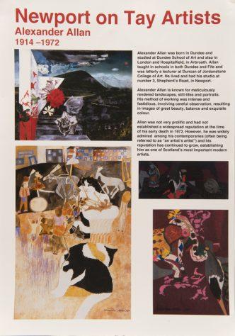 Display Sheet on Local Artist, Alexander Allan