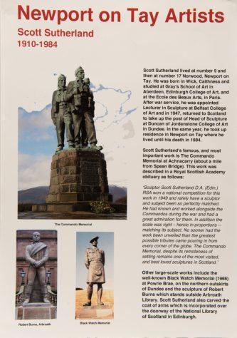 Display Sheet on Local Sculptor, Scott Sutherland