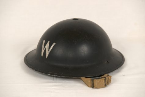 Air Raid Warden's Helmet from World War II