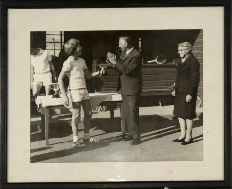 Prize-giving at Newport Tennis Club, 1972