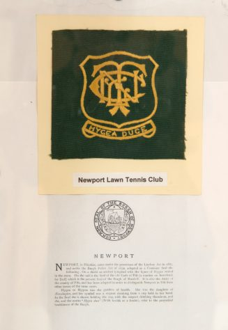 Badge of Newport Tennis Club