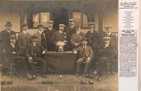 Wormit Bowling Club: Winners of the 1919 Three Counties' Association Trophy