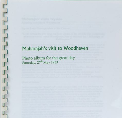 Photo Album of the Visit to Woodhaven of the 'Maharajah' in 1933