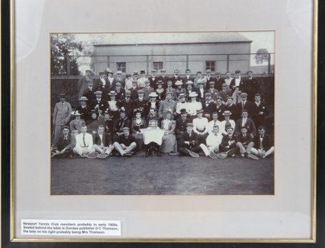Newport Tennis Club: Framed Photo of Members