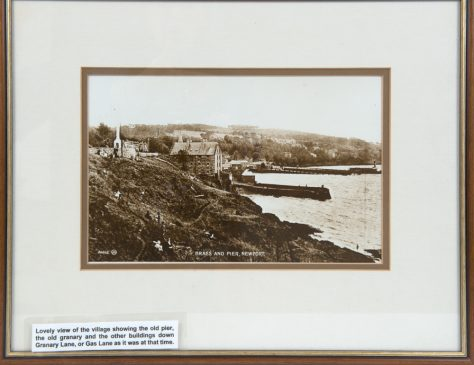 Framed Photo of the Braes, old Granary and Pier, Newport