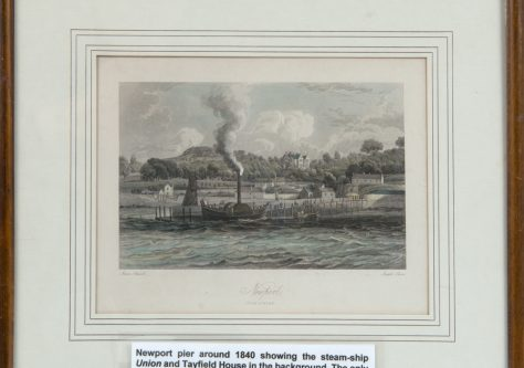 Framed Picture of the Pier and the Steamship Union c.1840