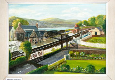 East Station, Newport-on-Tay. Painting by Helen Wallace