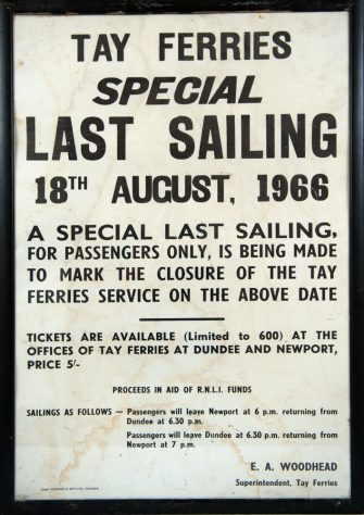 Poster of Last Sailing of Tay Ferries on 18 August 1966