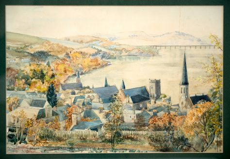 Painting of East Newport by Hilda Allan