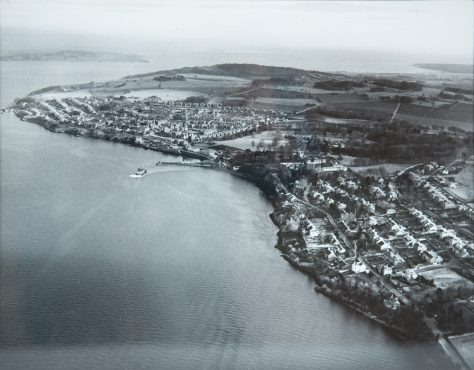 Aerial Photograph of East and West Newport