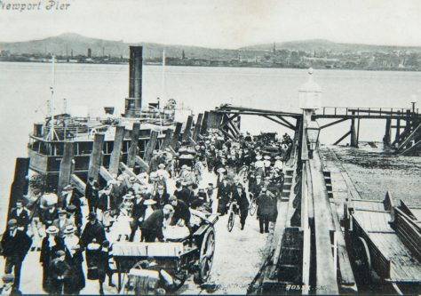 Postcard of Newport Pier probably early 1900s
