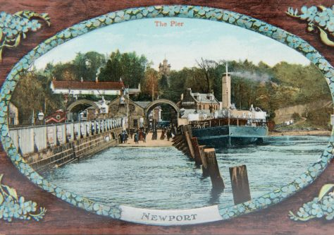 Postcard of Newport Pier from the River, c. 1900