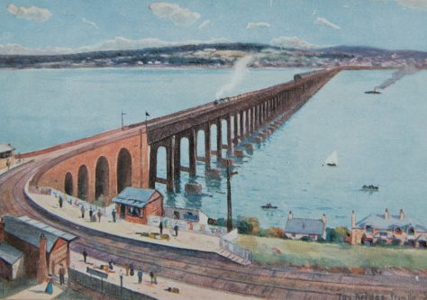 Postcard: Tay Bridge from the South
