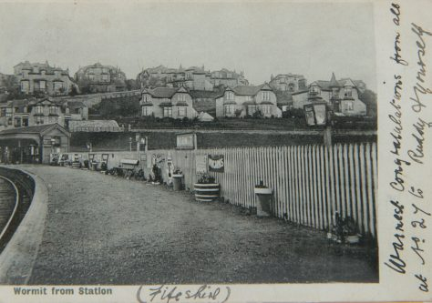 Postcard: Wormit from the Station
