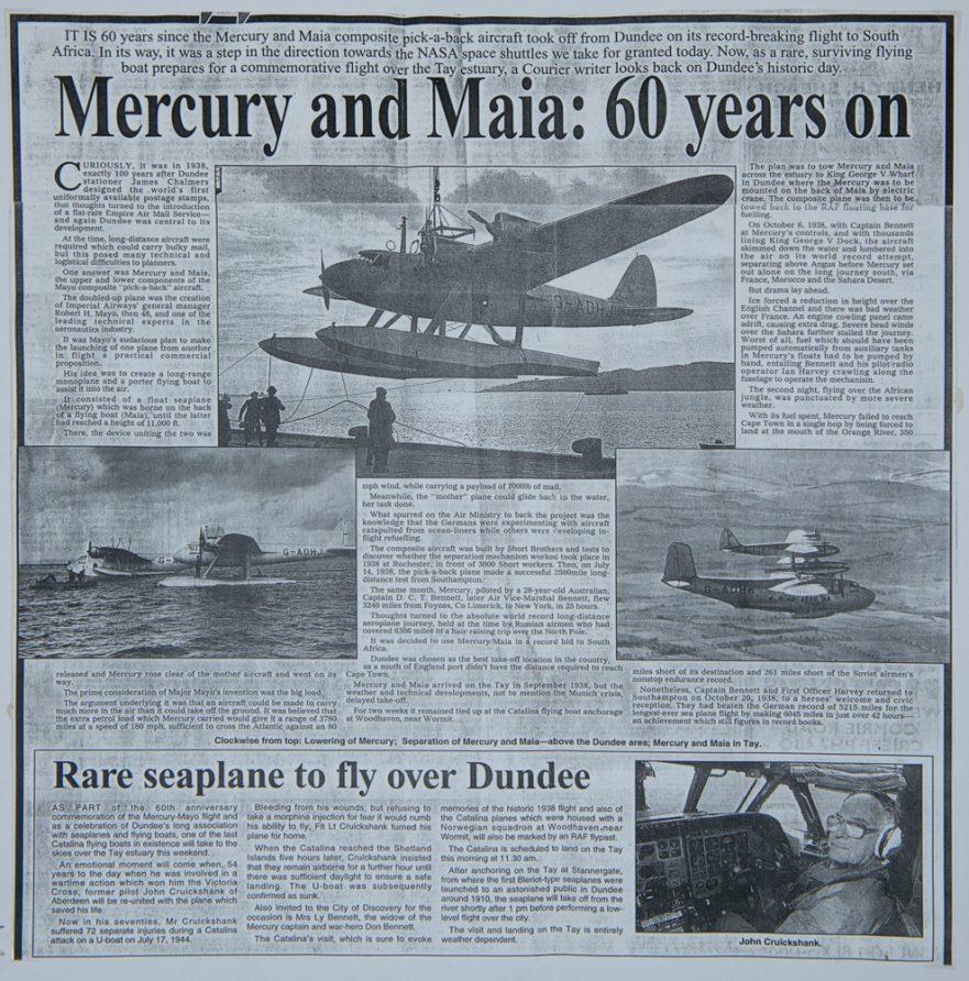 Mercury and Maia Newspaper Report