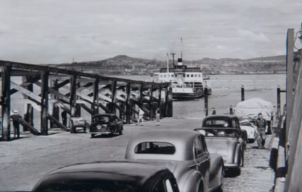 Cars Queue on Pier c. 1960