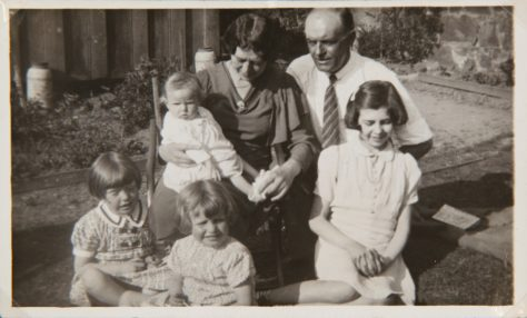 The Squibb Family of Queen Street, Newport, with their Evacuees