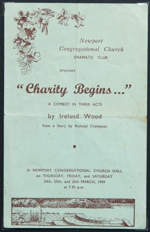 Programme from Congregational Church Drama Group