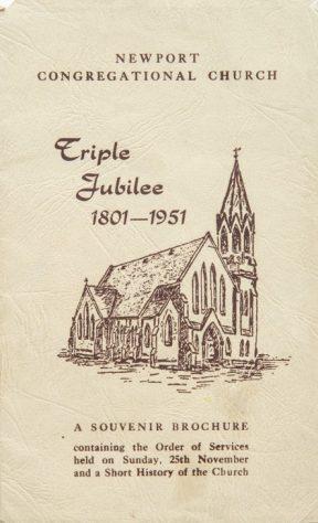 Congregational Church Triple Jubilee Brochure 1801 - 1951