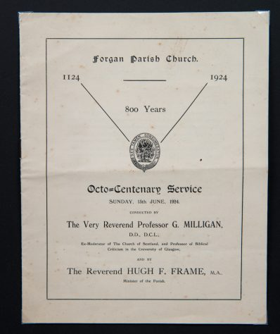 Forgan Parish Church Octo-Centenary Service 1924