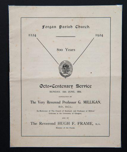 Forgan Parish Church Octo-Centenary Service 1924