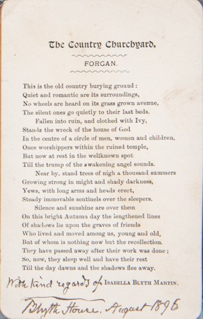 Forgan Churchyard Poem by Mrs Blyth Martin
