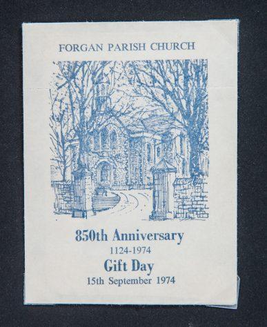 Forgan Church 850 Years Gift Envelope