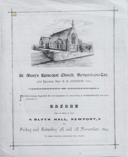 St Mary's Church Bazaar leaflet 1892
