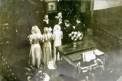 Wedding ceremony in St Fillan's Church 1948