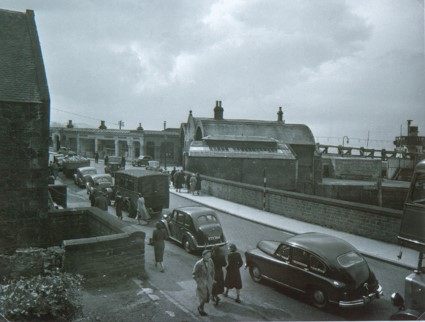 Cars Queue for the Ferry on Boat Road 1950s