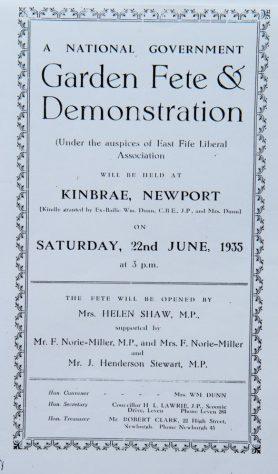 Kinbrae Garden Fete 1935
