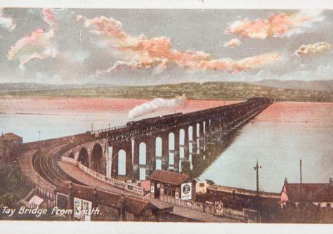 Postcard: Steam Train on Railway Bridge