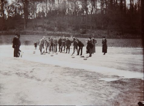 Curling locally at unknown location