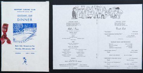 Curling Club Centenary Dinner 1958
