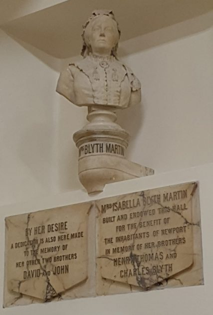 Sculpture of Mrs Blyth Martin