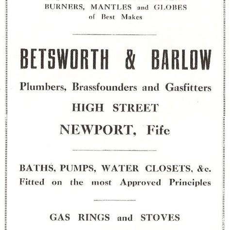 1924 advertisement for Betsworth and Barlow plumbers | Mairi Shiels