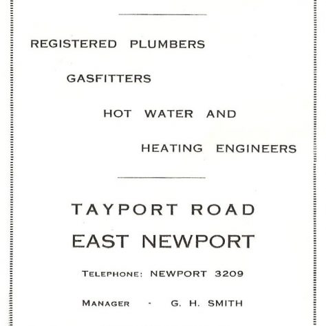 1924 advertisement for James Jack plumbers