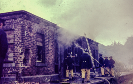 Fire at West Newport Station