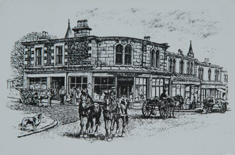 Drawing of Newport High Street, About 1903