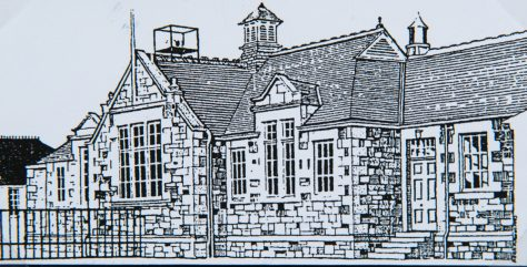 Drawing of Original Wormit School