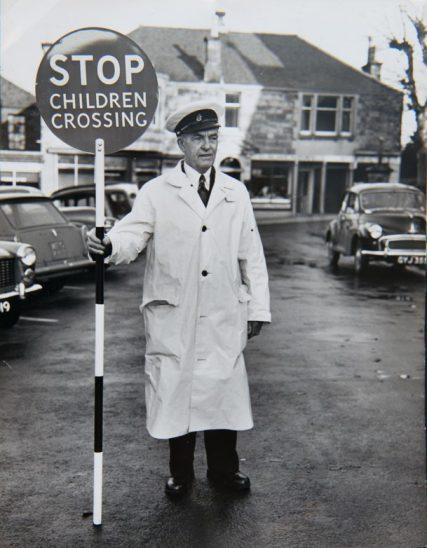 Lollipop Man John Squibb c. 1962 | Margaret Wright