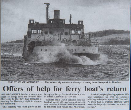 Campaign to Bring Back the Abercraig Ferry