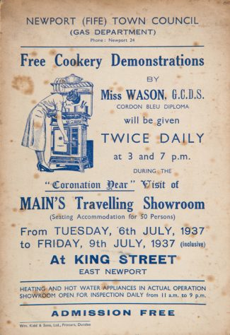 Cookery Demonstrations in Coronation Year 1937