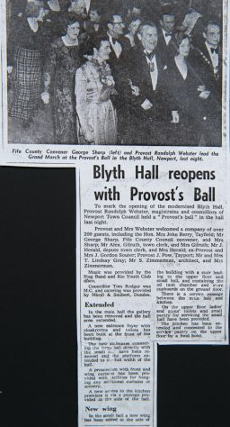 Blyth Hall Re-Opens 1 February 1974 with Provost's Ball