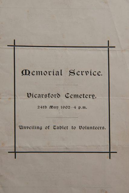Leaflet from the memorial service. | Henry Burnett
