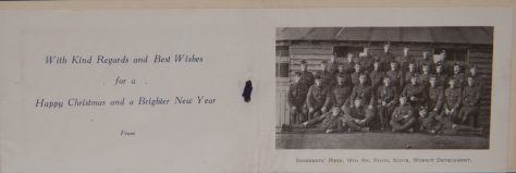 Christmas Card from Royal Scots, Wormit Detachment