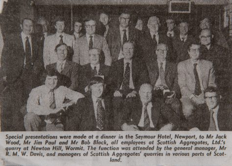 Dinner for Scottish Aggregates' Employees in Seymour Hotel