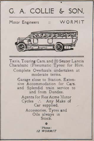 Advertisement for Collie's Motor Engineering Business